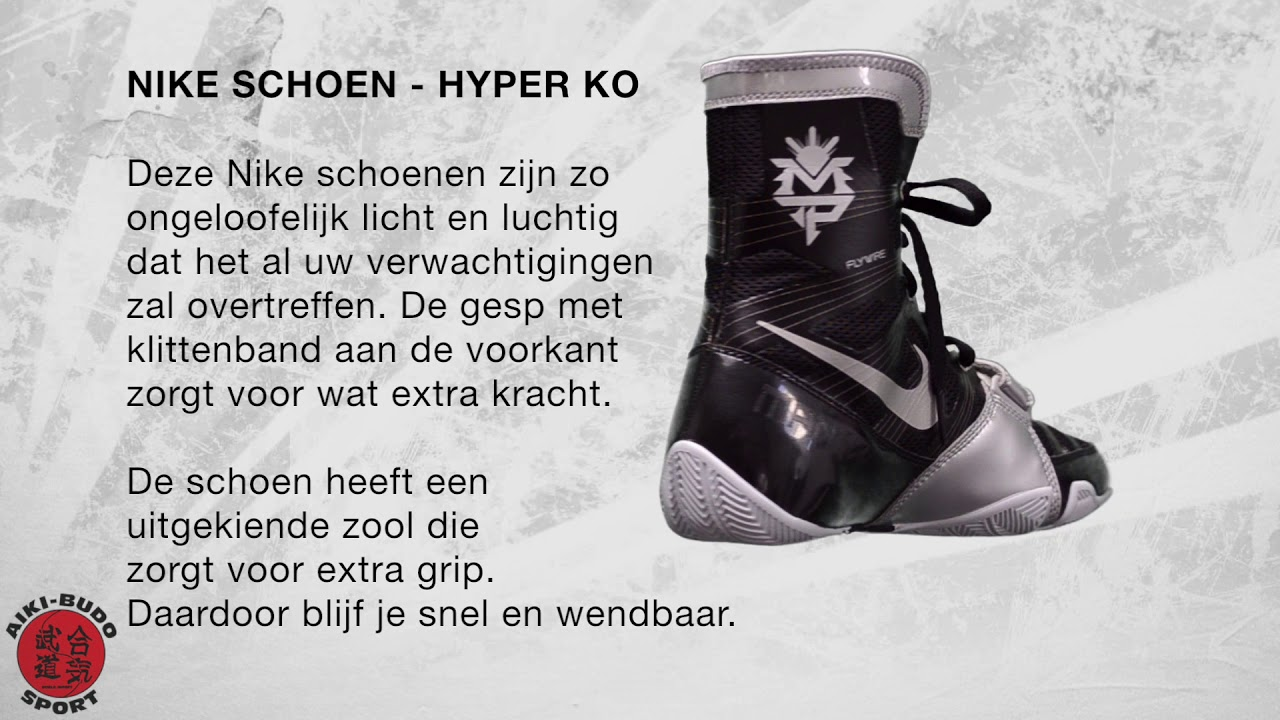 06c23283e7e Nike Hyper K.O. boksschoen - Zwart/Zilver - Boksschoenen