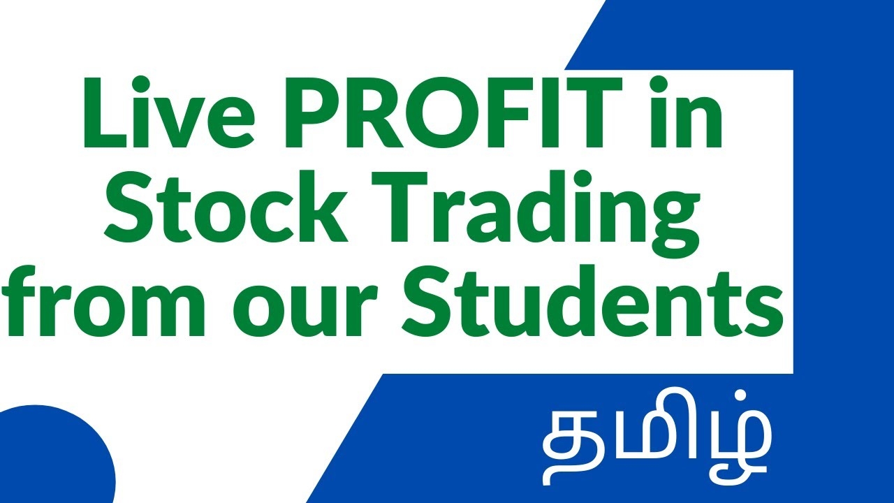Live Stock trading Profit from our students | TAMIL | Learn Stock market in Tamil