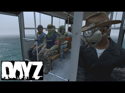 Getting picked up by a hackers flying bus in DayZ