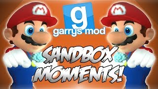 Garrys Mod Sandbox Funny Moments! - GTA in GMod, Watermelon Roulette, Thruster Fun and More!