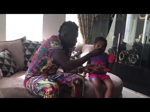 Exclusive: Asamoah Gyan spending quality time with his family.