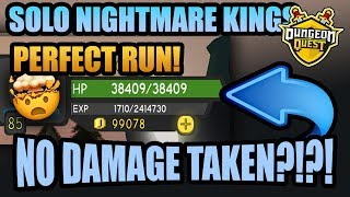 ⚔KING'S CASTLE NO DAMAGE 🛡 PERFECT RUN 💯 Dungeon Quest Kings Update (Roblox)