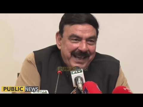 Minister of railways Sheikh Rasheed Ahmad press conference | 30 October 2018 | Public News