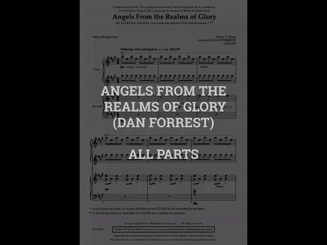 Angels From The Realms of Glory   ALL PARTS