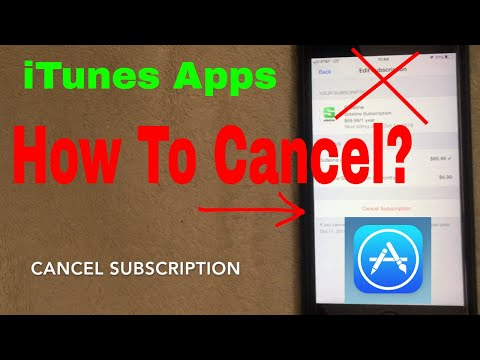 ✅  How To Cancel ITunes App Subscription On IPhone And IPad Tutorial 🔴