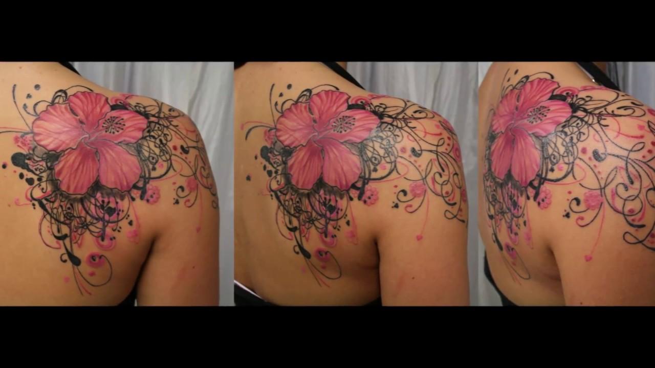 Most Beautiful Flower Tattoo Design Youtube