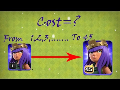 Archer Queen Upgrade Cost (Dark Elixir and Gems) 🔶 Clash of Clans 🔶 CoC
