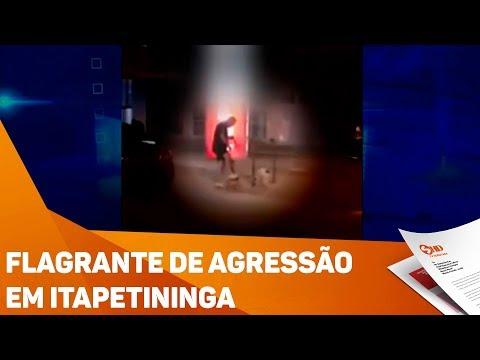 Flagrante de agressão em Itapetininga - TV SOROCABA/SBT