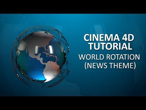 CINEMA 4D TUTORIAL   World Rotation News Theme
