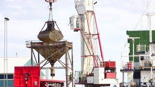 Gambar cover Demag MC900Q Harbour Crane Unloading A Ship