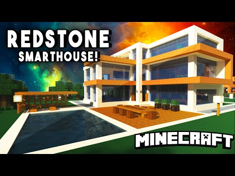 Epic redstone smart house modern mansion w a personal for Epic house music