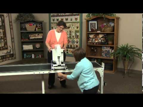 Handi Quilter - Setting up the frame