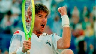 Jimmy Connors amazing point 1991 U.S. Open