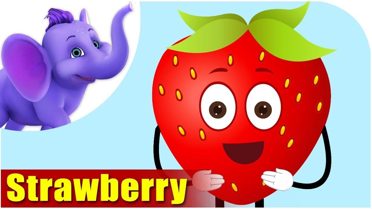strawberry fruit rhyme for children strawberry cartoon fruits