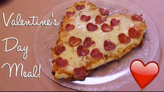 Valentine's Day Meal Idea: Heart Shaped Pizza ♡