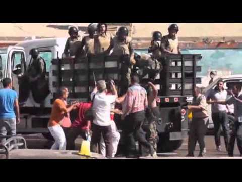 Raw: Clashes Erupt in Egypt at Islamist Protests