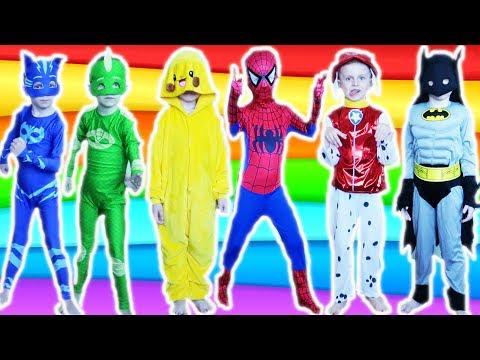kids-costume-runway-show-pj-mask-batman-superman-spiderman-paw-patrol-bumblebee