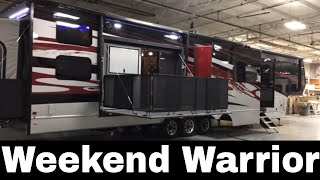 Weekend Warrior Toy Hauler - Innovation Forward - Luxe luxury Toy Hauler 5th Wheel