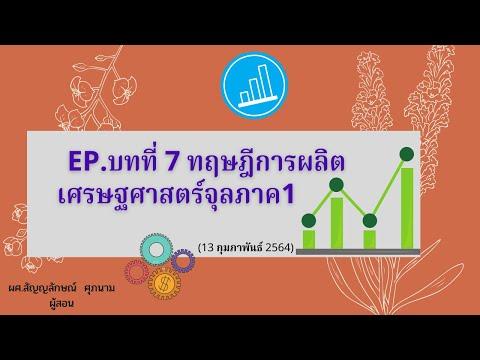 EP.บทที่ 7 ทฤษฎีการผลิต เศรษฐศาสตร์จุลภาค1 (13 กุมภาพันธ์ 2564)