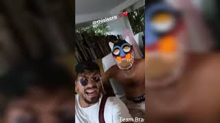 Capital Bra nimmt mit Cro neue Songs auf Bali auf (Capital Bra Instagram Story vom 7.12.20)