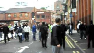 EDL fight in Leicester.