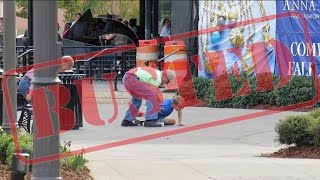 Falling in Front of People Prank (GONE WRONG) WE GOT CAUGHT!!!