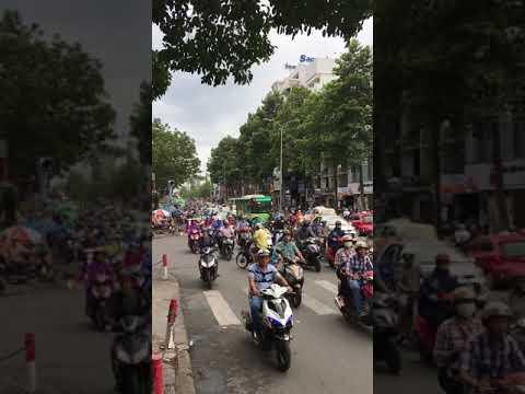 Crazy Moto Bike Traffic Ho Chi Minh City