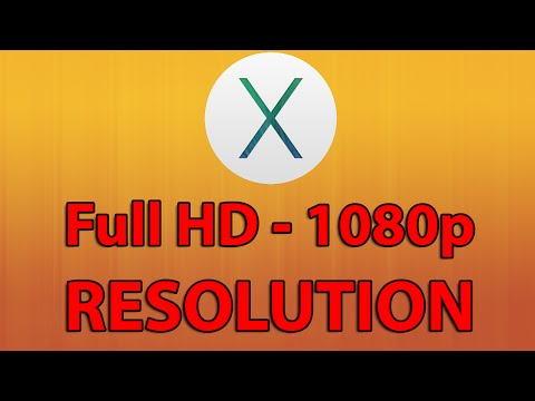 How to change resolution in Mac OSX to 16:9 (1920x1080 / 1280x720) - Tutorial