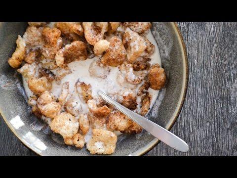 Keto Recipe - Salted Caramel Pork Rind Cereal