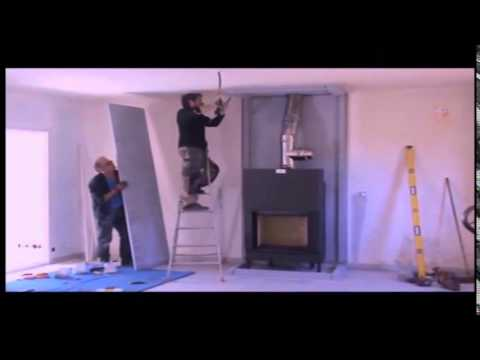 Montage d 39 une hotte de chemin e en skamotec 225 youtube - Decoration hotte de cheminee ...
