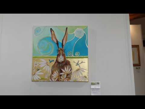 Divine Essence Solo Art Exhibition of work by Artist Liz Shewan in Lyme Regis Dorset
