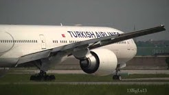 Turkish Airlines 777-300ER Landing in Stuttgart