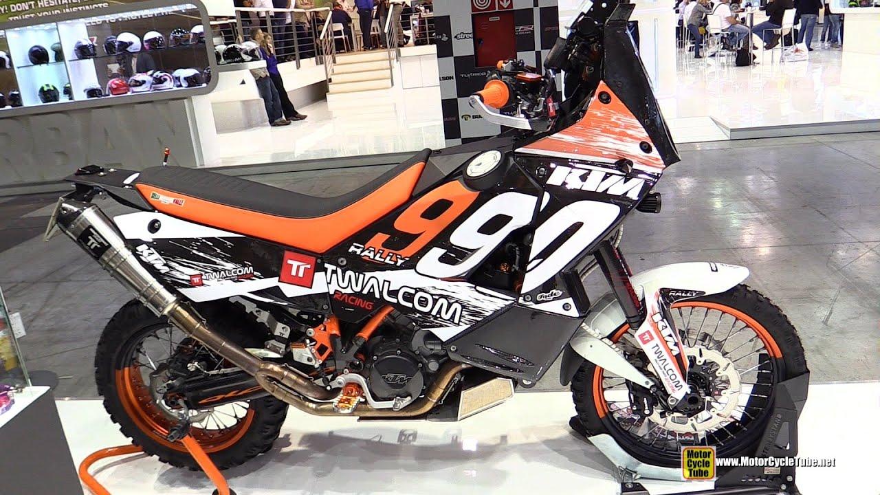 2015 ktm 990 rally - walkaround - 2014 eicma milan motorcycle