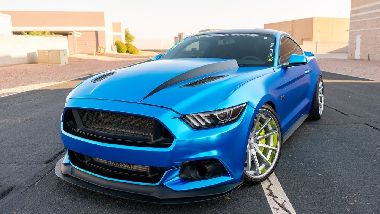 Supercharged Satin Blue Chrome Mustang GT | SOLD - YouTube