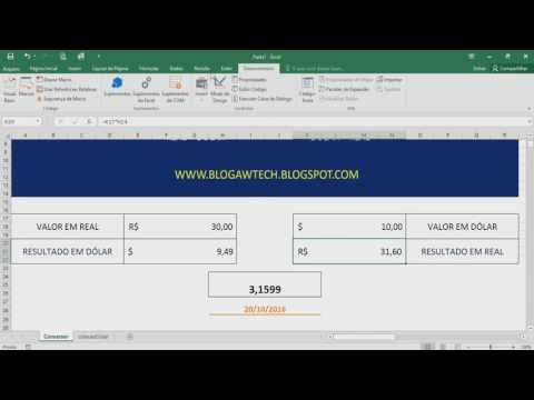 Planilha Conversor De Moedas (cotação Que Atualiza Automática) - Excel