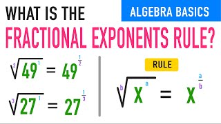 Fractional Exponents Rule Explained!