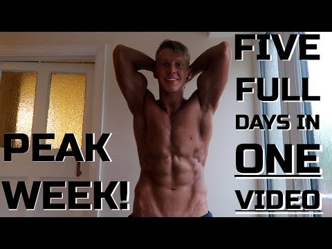 FULL PEAK WEEK IN ONE VIDEO!   Fitness Model Competition Prep Explained