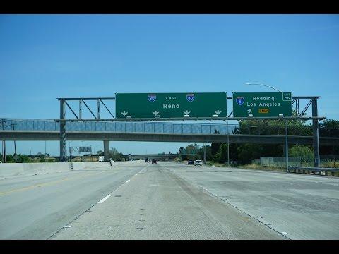 Interstate 80 East in Sacramento, California
