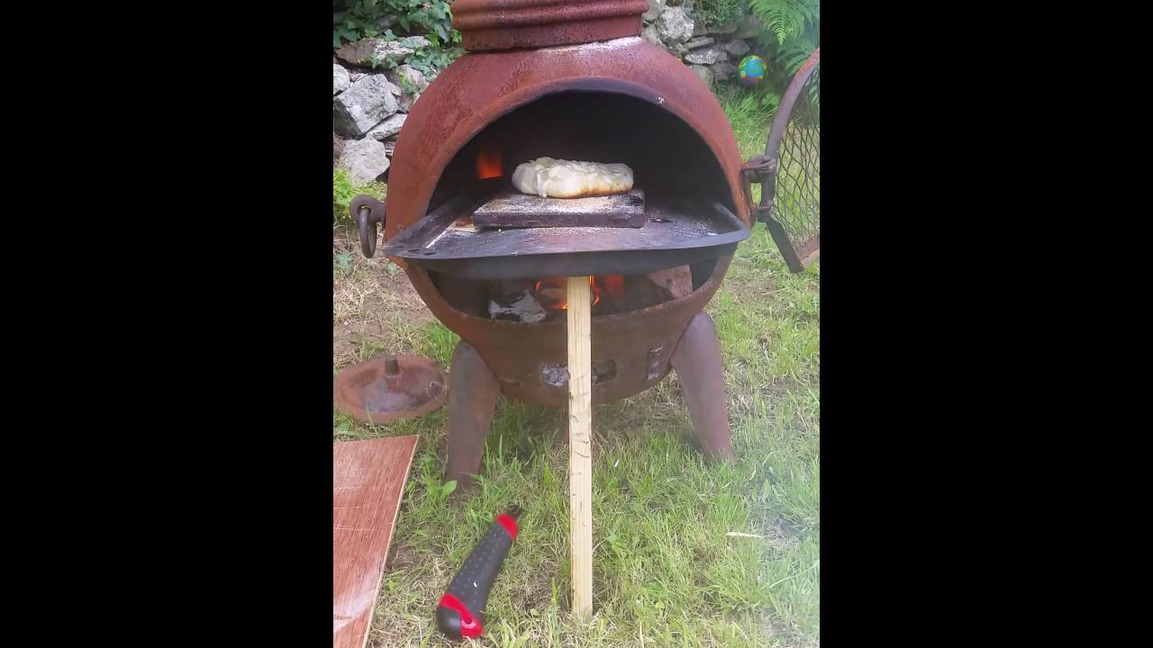 Wood Fired Chiminea Pizza Oven