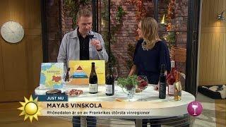 Mayas vinskola - Röda viner från Rhônedalen  - Nyhetsmorgon (TV4)