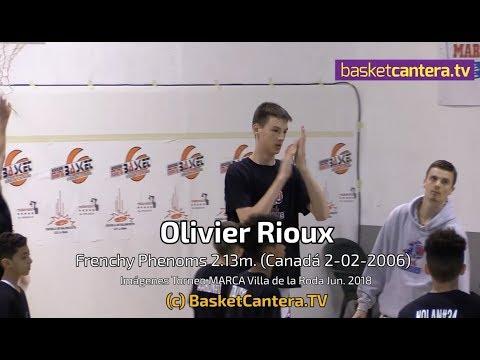 OLIVIER RIOUX - 12 años,  2.13 m. (Canadá 2006). Highlights -  By ©BasketCantera.TV