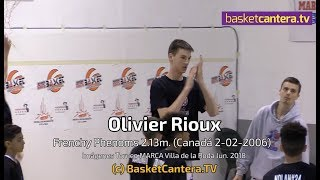 OLIVIER RIOUX - 12 años,  2.13 m. (Canadá 2006). Highlights -  By ©BasketCantera.TV thumbnail
