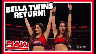 THE BELLA TWINS RETURN reaction!!! WWE RAW 9/3/18