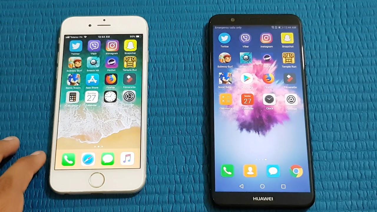 test iphone 6 plus vs huawei