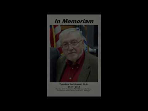 Dr. Thaddeus Radzilowski In Memoriam