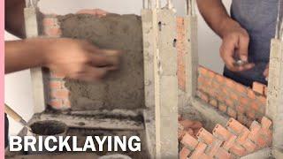 HOW TO BUILD A BRICK WALL: BRICKLAYING: plaster --- CONSTRUCIÓN DE CASA EN LADRILLO -revoque