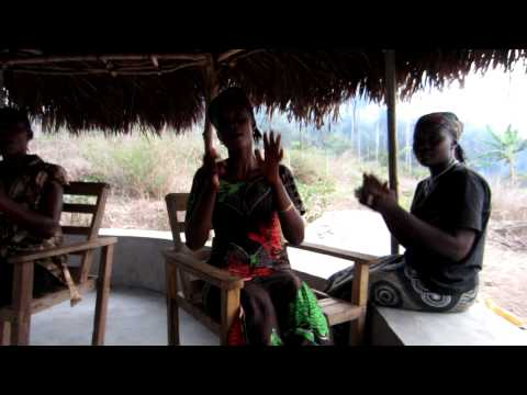 Sierra Leonean women sing a traditional song in Mende.
