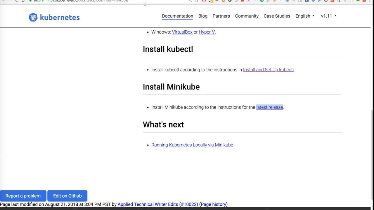 Create Kubernetes Cluster through Minikube
