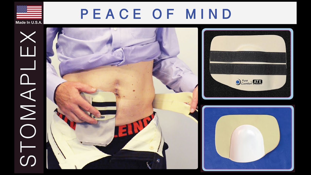 Pure-Comfort Stoma Guard and Ostomy Belt for Men by Stomaplex