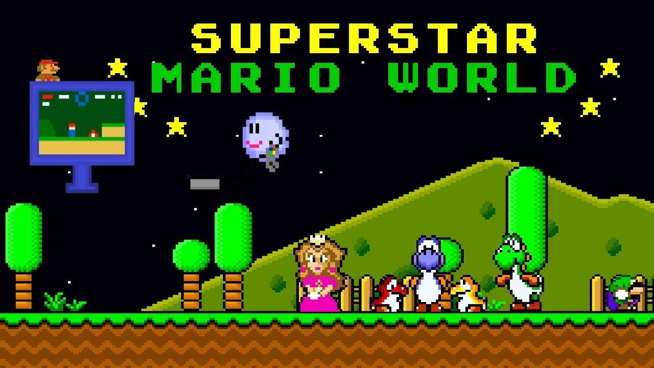 Superstar Mario World | Impressive Super Mario World ROM Hack (スーパーマリオワールド)